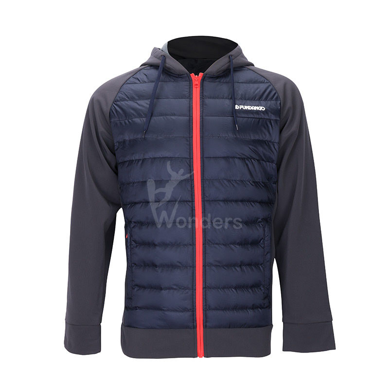 Men's lightweight water-resistant softshell hybrid jacket