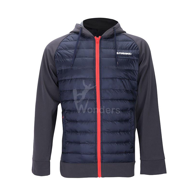 Men's lightweight water-resistant softshell hybrid jacket