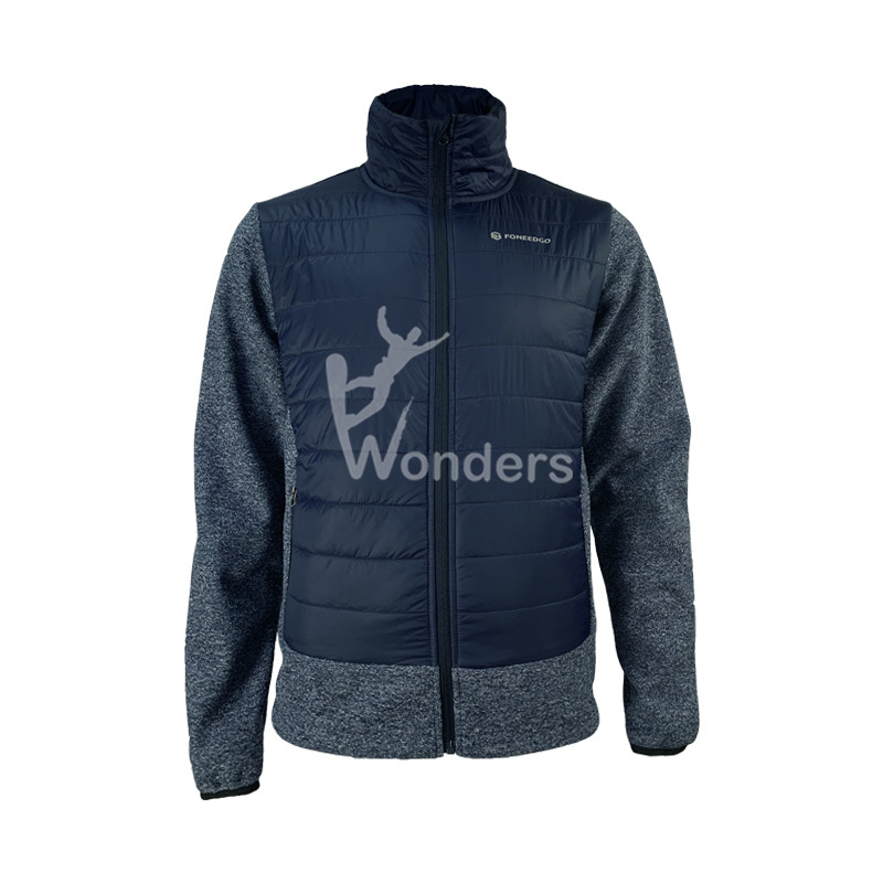 Men's Outdoor Look Wool Padded Hybrid Running Jacket