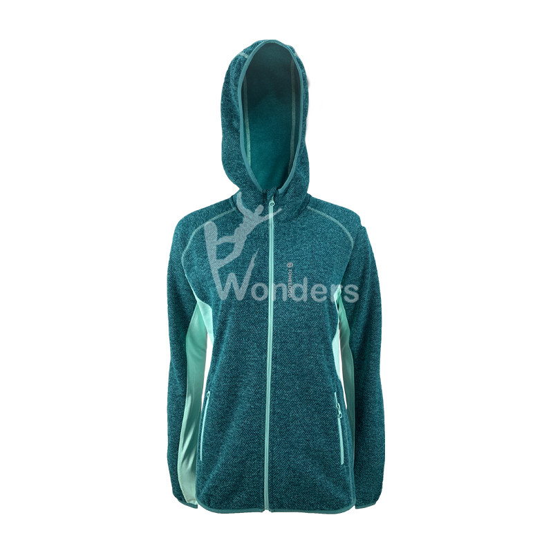 Ladies Fashion Hybrid sweatshirt Shell Jacket