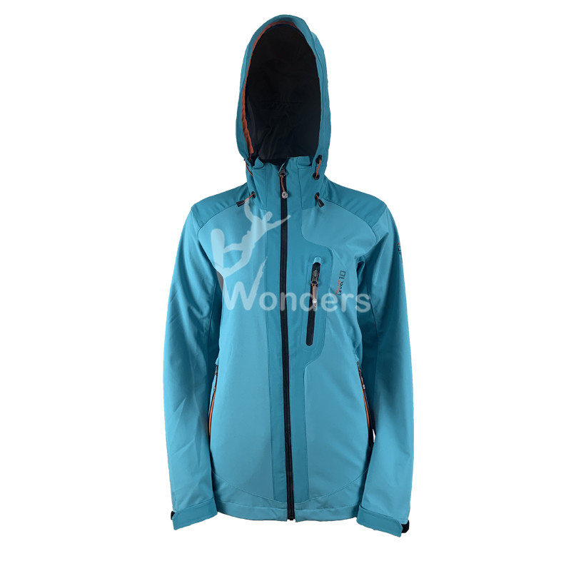 Ladies Fashion waterproof Softshell jacket with hood