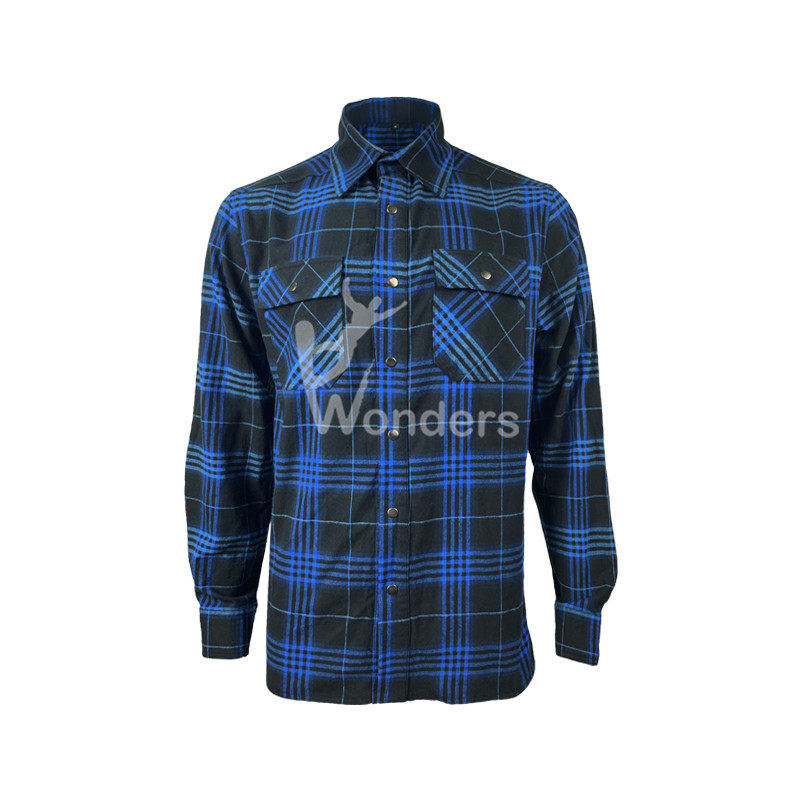 Men's Yarn-Dyed Long-Sleeve Flannel Work Casual Wear Button Shirts
