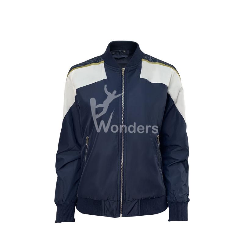 Best Womens casual Jackets Contrast Bomber Coat Windbreaker