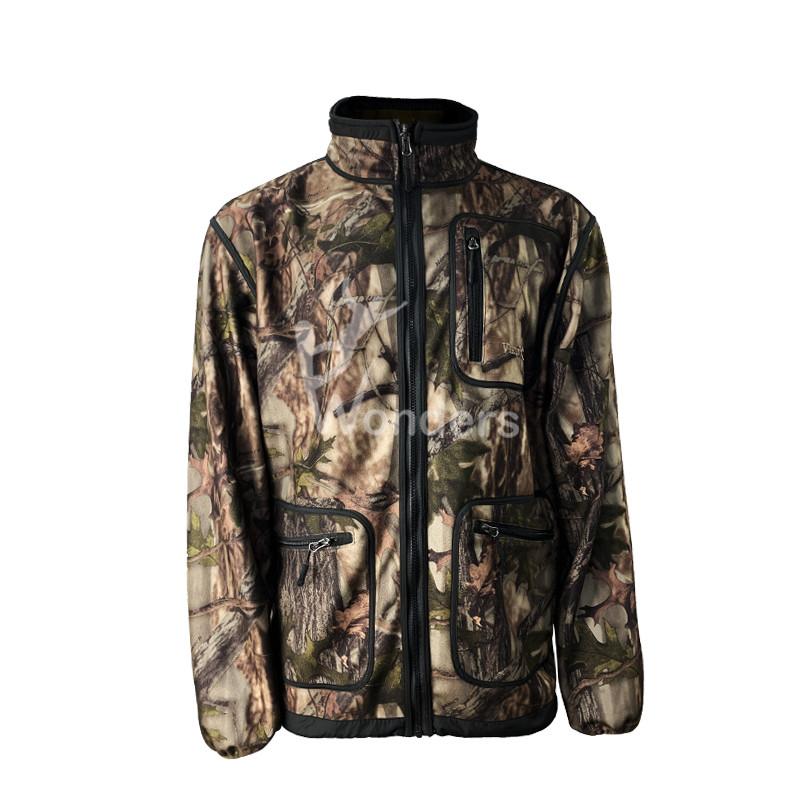 Men's Stand Collar Hunter Printing Jacket Winter Coats