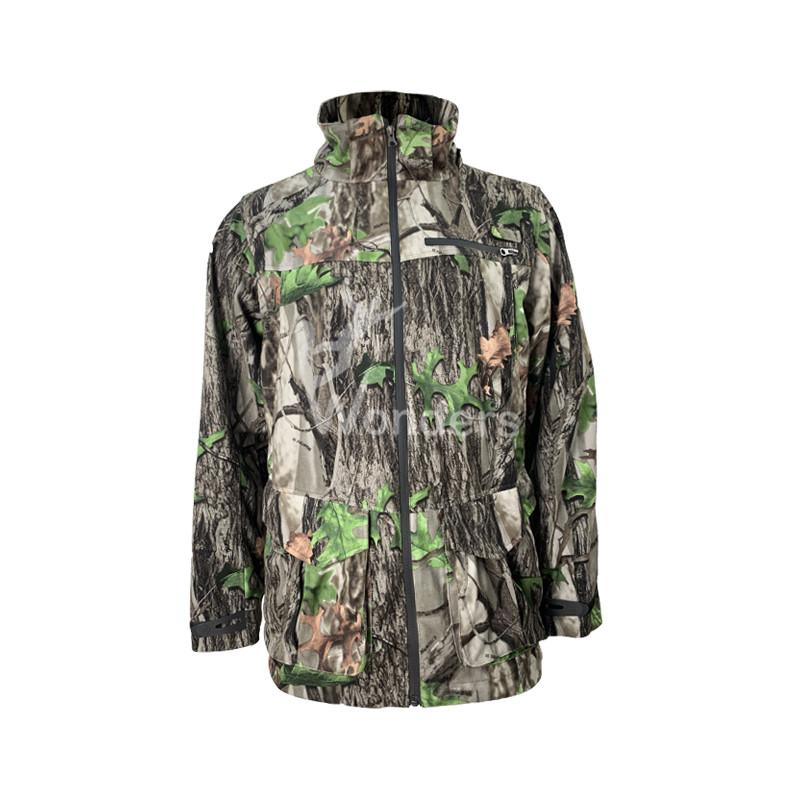Men's Camo Stand Collar Waterproof  Winter Hunting Jacket