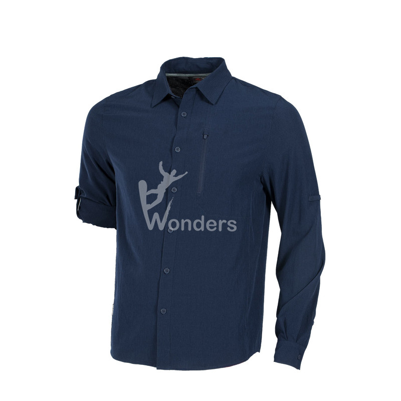Men's Cool stretch Long-Sleeve Button Best Casual Hiking Shirts