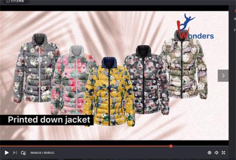 Printed Down Jacket from Xiamen Wonders