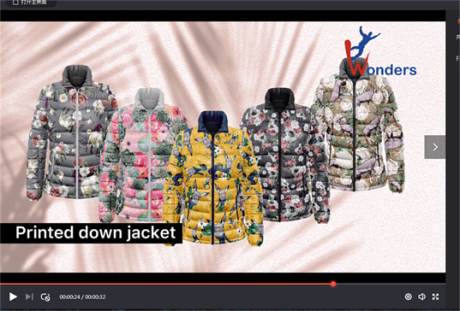 Printed Down Jacket from Xiamen Wonders