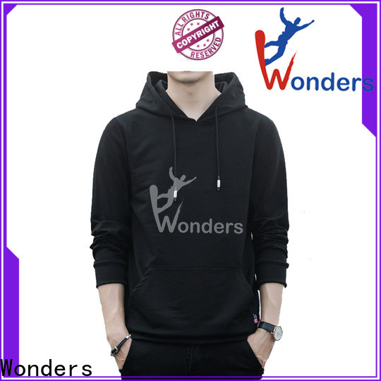 Wonders comfortable pullover hoodies with good price bulk production
