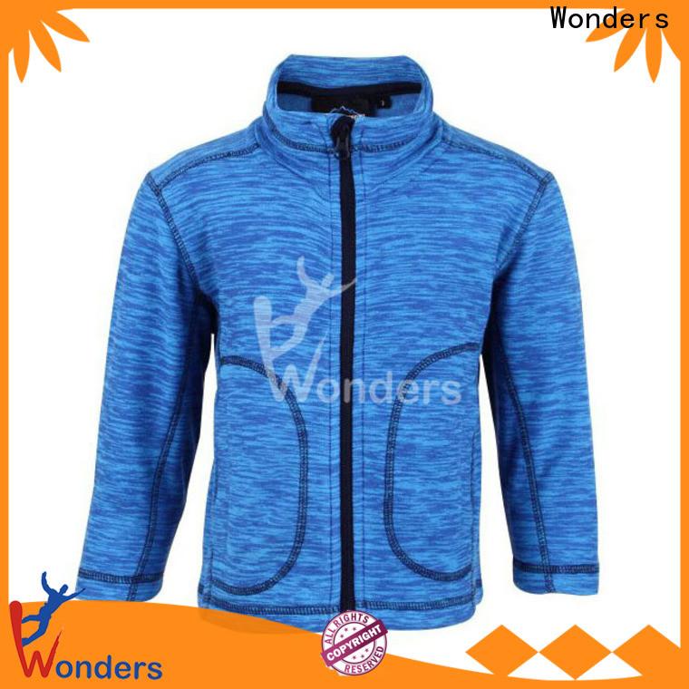 Wonders zip up fleece jacket series for outdoor