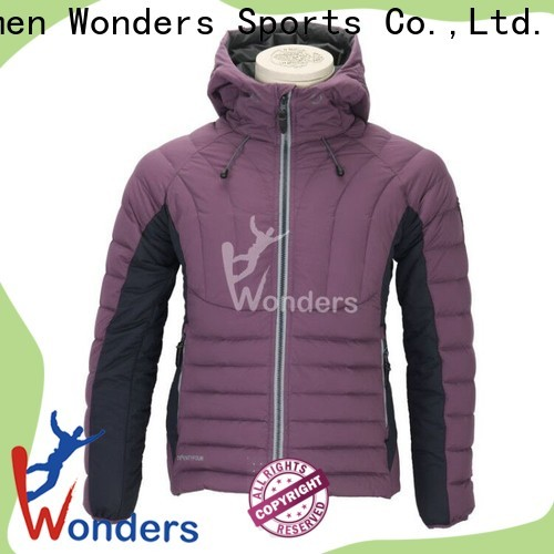 Wonders top outdoor down jacket company for promotion