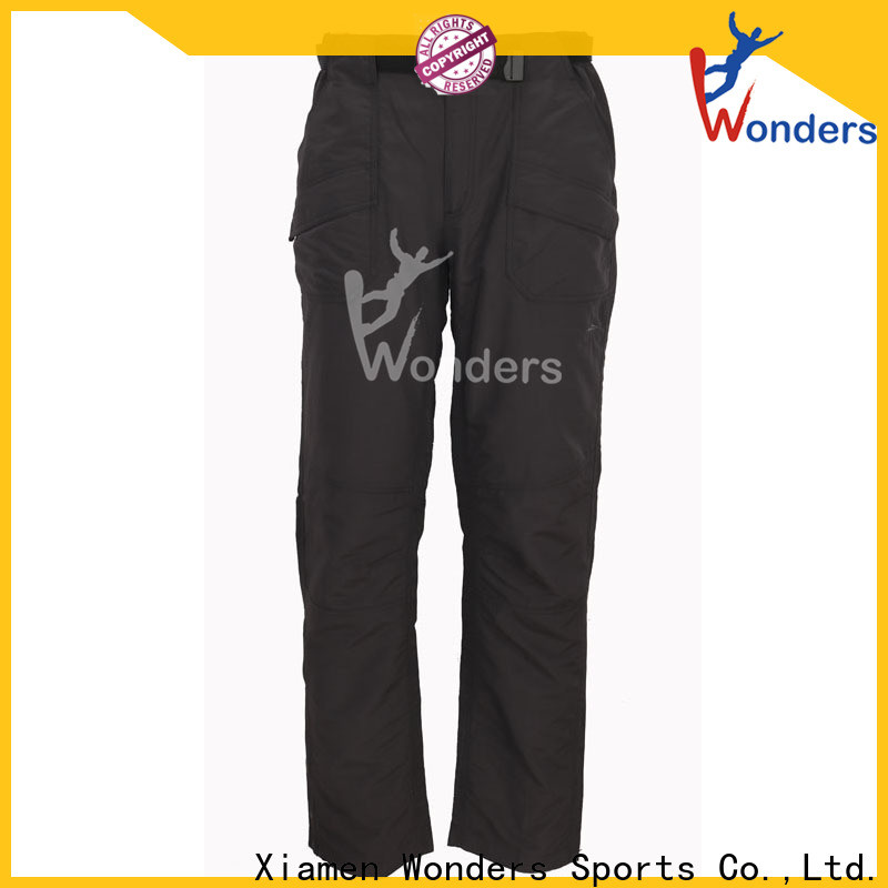 Wonders low-cost hiking and travel pants factory direct supply for outdoor