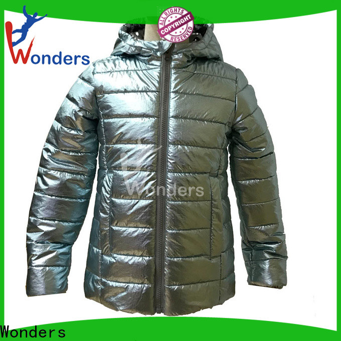 Wonders padded hooded jacket manufacturer bulk production