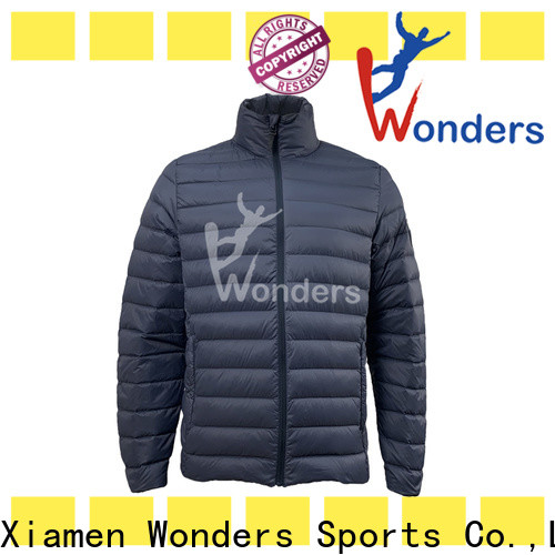 Wonders cool mens down jackets design bulk production