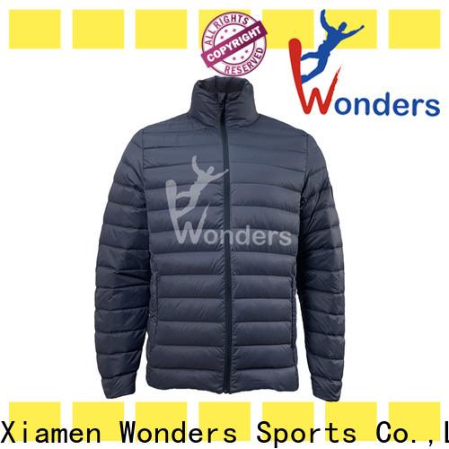Wonders cool mens down jackets design bulk production
