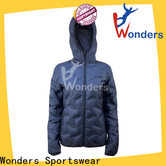 Wonders cool mens down jackets supplier to keep warming