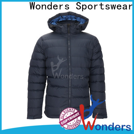 Wonders latest ladies padded jacket with hood manufacturer for promotion