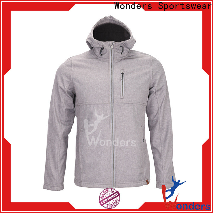 Wonders fitted soft shell jacket factory for sports