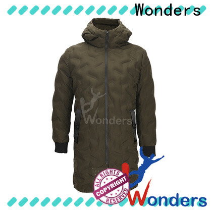 Wonders high quality parka black jacket series to keep warming
