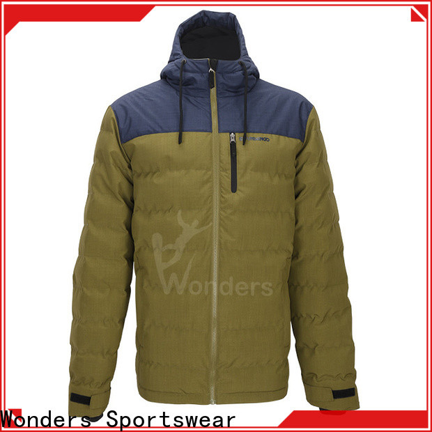 Wonders cheap mens light padded jacket supply to keep warming