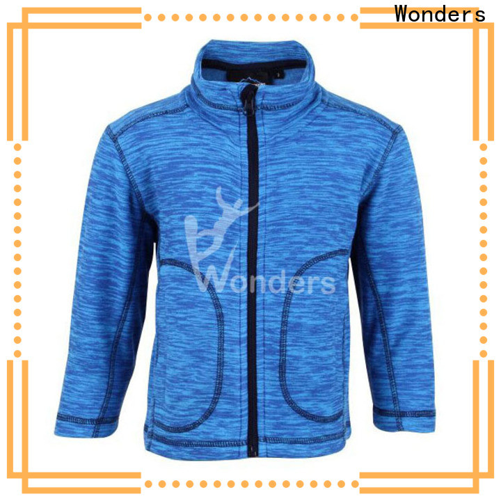 Wonders fleece jacket with zip pockets manufacturer to keep warming