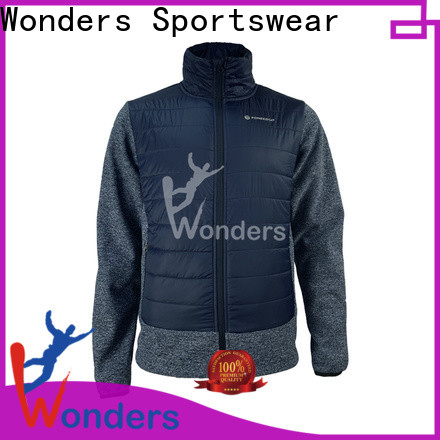 Wonders hybrid down jacket design to keep warming