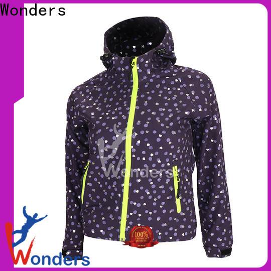 Wonders promotional softshell fleece jacket supply bulk buy
