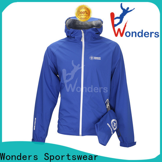Wonders men's lightweight packable rain jacket supply to keep warming