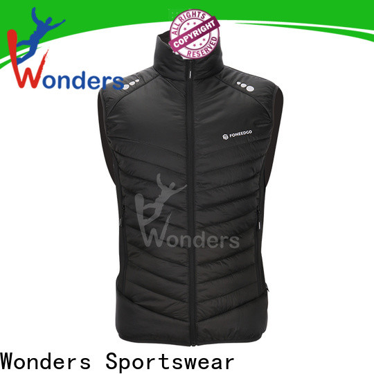 Wonders factory price polo puffer vest factory direct supply for sports