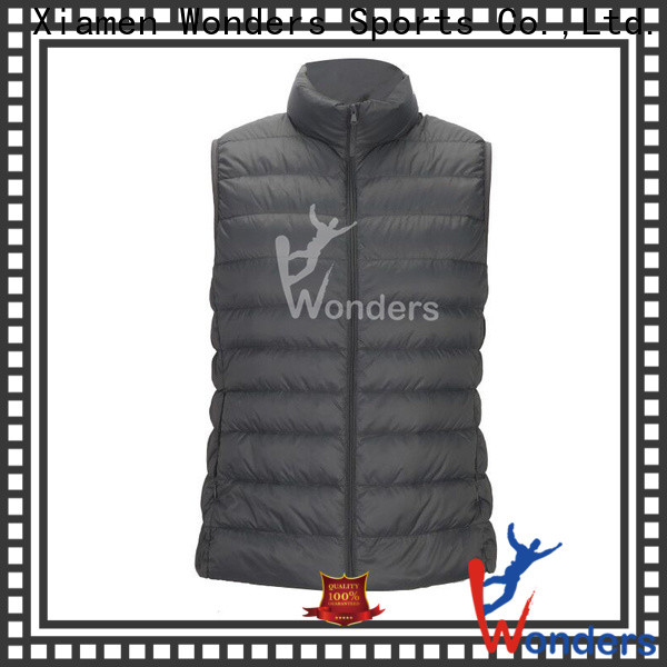 Wonders practical polo puffer vest factory direct supply to keep warming