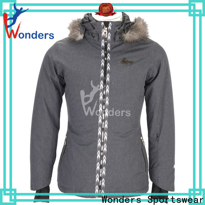 Wonders popular ladies fitted ski jacket for business bulk production