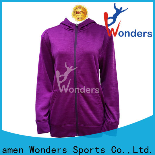 Wonders basic zip up hoodie manufacturer for sports