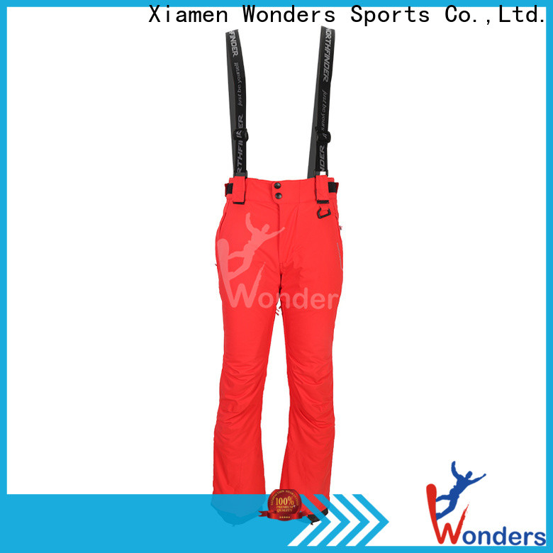 Wonders promotional waterproof ski pants design for sale