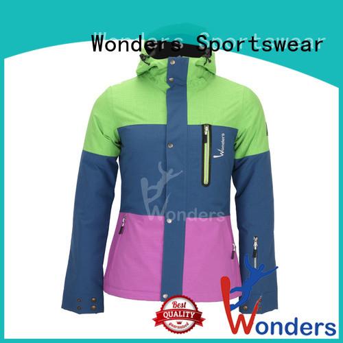 Wonders waterproof insulated ski jacket for business bulk production
