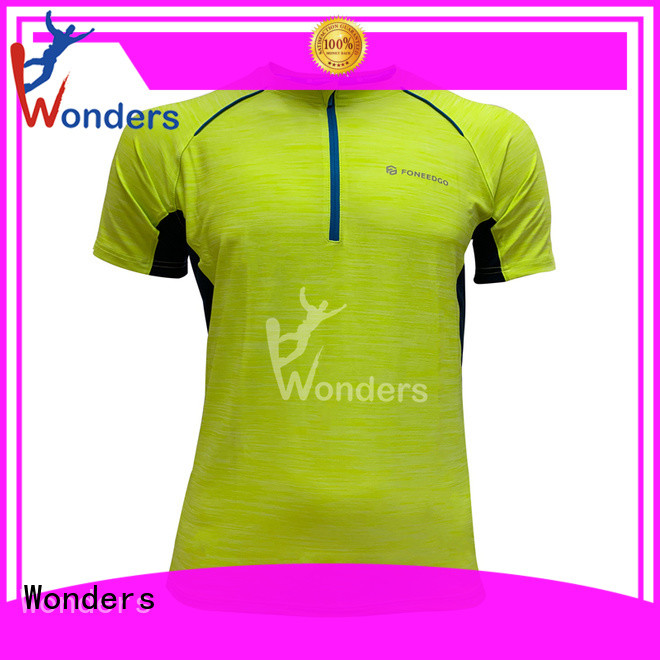 Wonders running tee shirts manufacturer for promotion