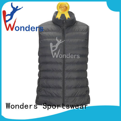Wonders black puffer vest directly sale for sports