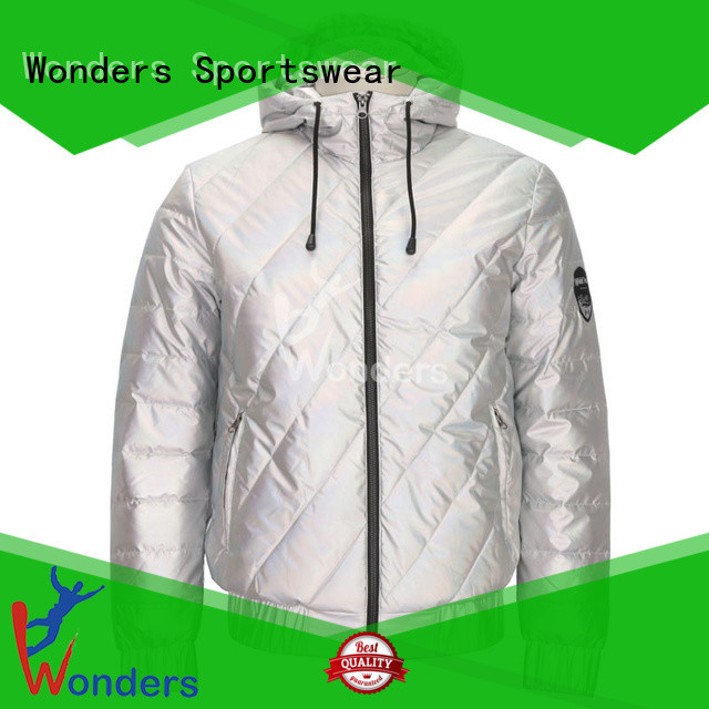 Wonders padded hooded jacket factory direct supply bulk production