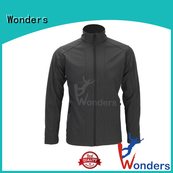 Wonders fitted soft shell jacket suppliers for sports