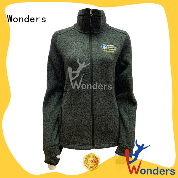 Wonders top zip up fleece jacket company bulk production