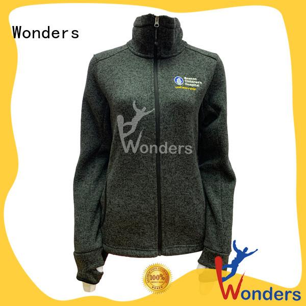 Wonders top zip up fleece jacket company bulk production