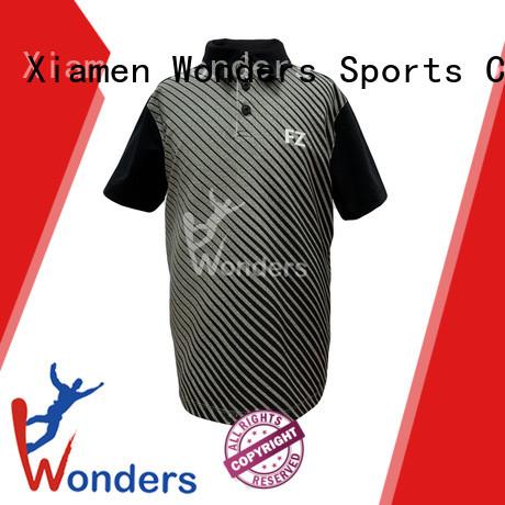 Wonders black short sleeve polo shirt design bulk buy