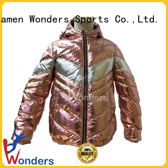 high quality ladies padded jacket design for promotion