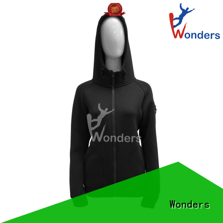 Wonders zip front hoodie for business for outdoor