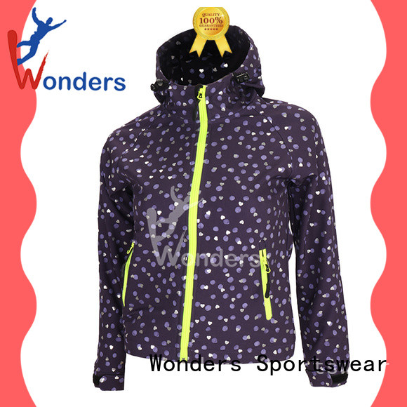 Wonders lightweight softshell jacket factory direct supply for winte
