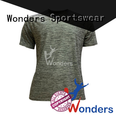 Wonders promotional custom running t shirts manufacturer for outdoor