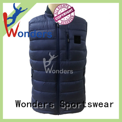 Wonders mens quilted vest series for winte