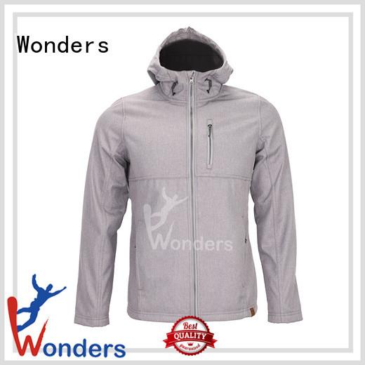 Wonders durable mens softshell jacket factory to keep warming