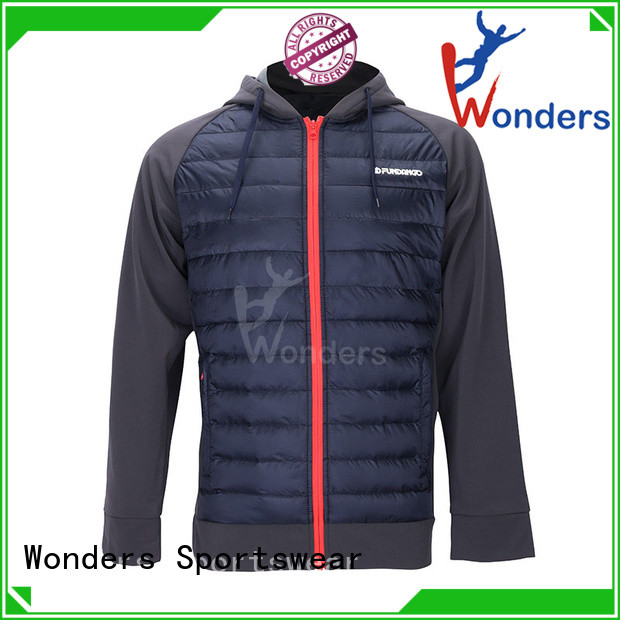 quality winter hybrid jacket series for sports