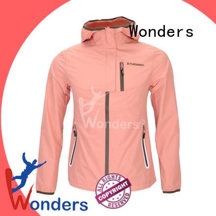 Wonders water resistant rain jacket manufacturer for outdoor