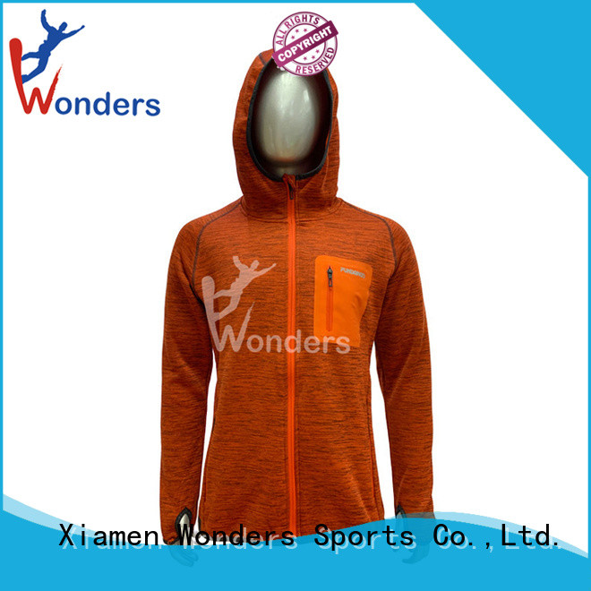 Wonders promotional mens zip up fleece personalized for outdoor